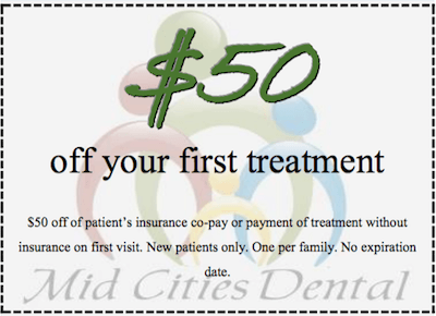 $50 off Coupon - dental office promotions