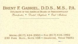 Dr Gabriel card
